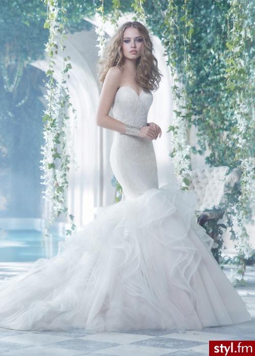 Niewiarygodnie Suknie ślubne typu syrena XK35