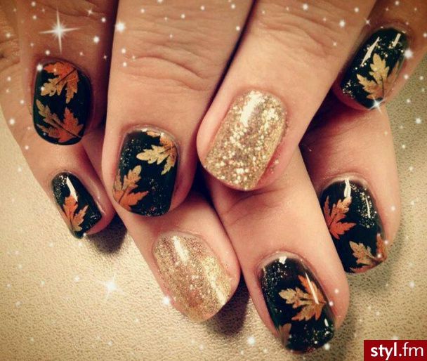 Last Autumn Nail Art Of The Year: Jesienny Manicure