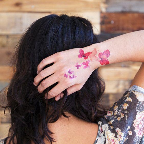 Tatuaz Motyle Najpiekniejsze Wzory Kolorowe Czarno Biale 3d