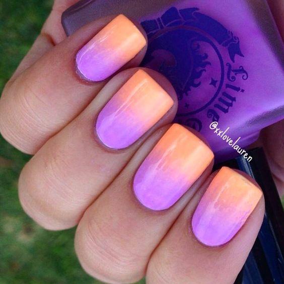Paznokcie ombre na lato - świeże, soczyste neony i słodkie pastele