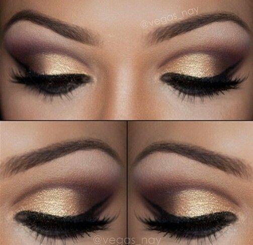 Wieczorowy Złoty Makijaż Dla Wszystkich Barw Oczu
