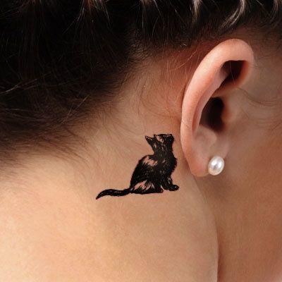 Mały Tatuaż Z Kotem Urocze I Zabawne Wzory Dla Wielbicielek Kotów