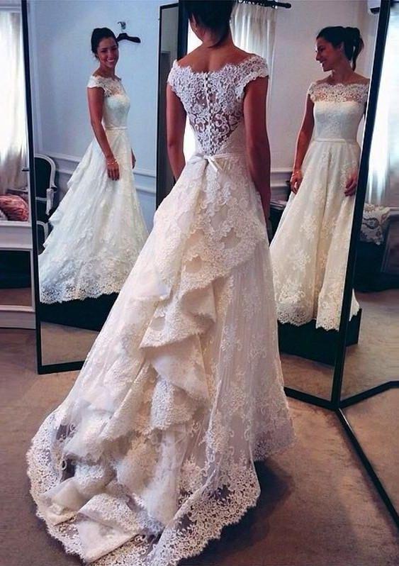 20 Najpiękniejszych Sukien ślubnych Z Koronką Oczaruj Gości