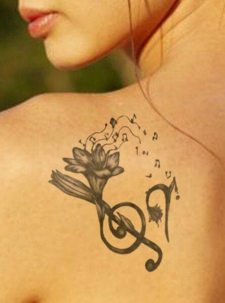 Tatuaże Inspirowane Muzyką Wzory Z Kluczem Wiolinowym