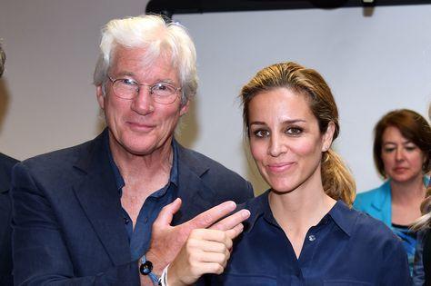 Richard Gere z żoną Alejandrą