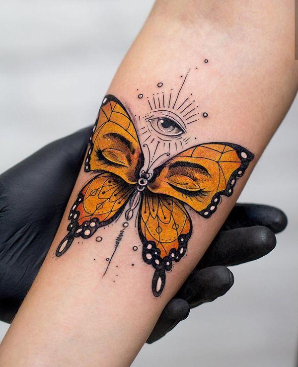 Tatuaż Z Motywem Motyla Galeria Przepięknych Wzorów Dla Kobiet
