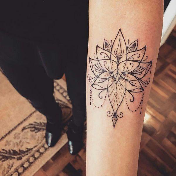 Kwiat Lotosu Galeria Hipnotyzujących Tatuaży