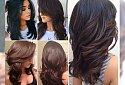Super modne, cieniowane fryzury dla długich i półdługich włosów