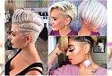 Krótkie fryzury undercut - z modnymi wzorkami, asymetryczne, z irokezem