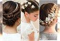 Fryzury komunijne dla dziewczynek: z wiankiem, żywymi kwiatami, opaską