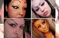 KOSZMAR! Poznajcie ofiary makijażu. Czy one widziały się w lustrze???