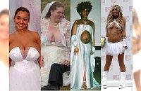 WSTYD! Najgorsze suknie ślubne, jakie kiedykolwiek widziałyście! Czy one oglądały się w lustrze?