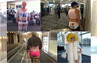 """W takich strojach nie powinni wpuszczać do samolotu!!! Najgorsze """"outfity"""" podpatrzone na lotniskach."""