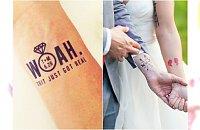 Tatuaż ślubny - te zabawne nalepki są już hitem na Zachodzie