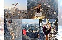 Rosjanka robi zdjęcia na ekstremalnych wysokościach bez zabezpieczeń. Prowokuje śmierć czy jest po prostu szalona? W głowie się kręci od samego patrzenia!