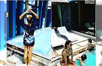 Rajskie wakacje Majdanów nad basenem. Radosław skacze do wody w ubraniu, Małgorzata pokazuje perfekcyjne ciało