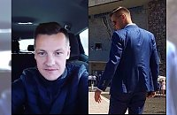 """Marcin Mroczek ze swoim synem na I Komunii Świętej. """"Jaki ojciec taki syn"""""""