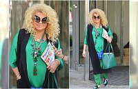 """Magda Gessler w stylizacji """"na żabę"""". Okulary to istne cudo! Za to buty... Hit czy kit?"""