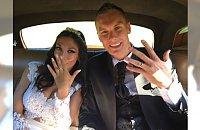 Polski bramkarz Łukasz Skorupski i Matilde Rossi wzięli ślub! Zobaczcie jej suknię ślubną!