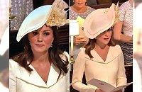 Ślub księcia Harry'ego i Meghan Markle: Księżna Kate w tej kreacji chciała pozostać w cieniu. Komentatorzy: Co tak skromnie?