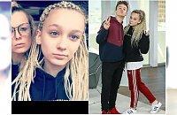 15-letnia Fabienne Wiśniewska przefarbowała włosy na odważny kolor! Idzie w ślady ojca?