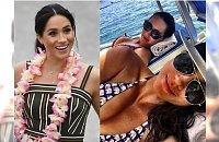 Ciężarna Meghan Markle na plaży. A jak wygląda w bikini? Szkoda, że zakrywa takie ciało!