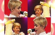 Miley znowu szokuje - tym razem śpiewa topless