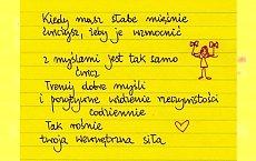 Żółte karteczki Beaty Pawlikowskiej: myśli pozytywne