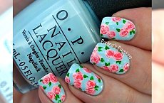 Flower nails - trendy manicure na 2015 rok