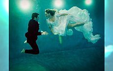 Nowy trend w modzie ślubnej - sesja zdjęciowa pod wodą
