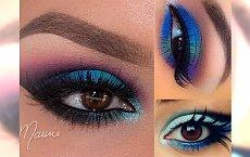 Elegancki makijaż oczu inspirowany pawim piórem