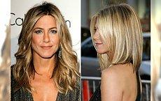 Cieniowane włosy z refleksami w stylu Jennifer Aniston. Uwielbiamy te fryzury!