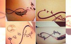 Tatuaż nieskończoności - tatuaż, który zawsze będzie w modzie! Śliczne propozycje dla stylowych dam!