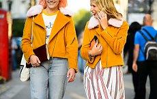 Żółty - Trendy Street Style z Fashion Week 2015