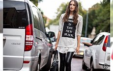 Jak nosić legginsy zimą?- Inspiracje Street Style