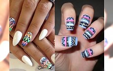 Aztecki manicure - unikalne i modne  wzorki na paznokcie
