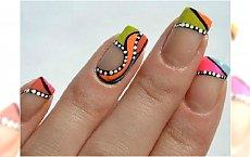 Modne wzorki na paznokcie - bawimy się kolorem na końcówkach!