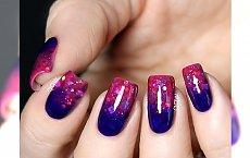 Fiolet i tajemnicza purpura... idealny manicure dla każdej z Was!