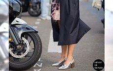 Metaliczne buty - Jak nosić nowy trend na 2015