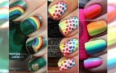 Rainbow nails - paznokcie jak tęcza! Szalejemy z szeroką gamą kolorów