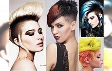 Krótkie fryzury- irokez, szalony kolor i wygolone boki, czyli coś dla odważnych kobiet!