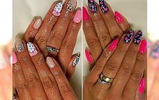 Słodki manicure - propozycje na wzorki dla wielbicielek różu i błyskotek