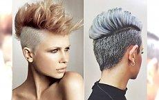 Krótkie fryzury z asymetryczną grzywką i wygolonymi bokami. Hot trend każdego  sezonu!