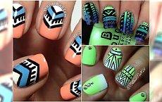Azteckie wzorki na paznokcie - odświeżamy trend na lato