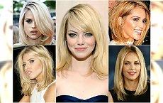 Śliczne fryzury półdługie dla blondynek