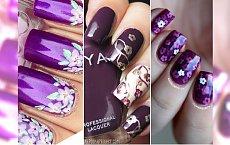 Fioletowy manicure w wielu odcieniach - idealny propozycje na lato