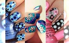 Polka dots manicure - groszki idealne na weekend