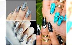 Marmurkowe wzory na paznokcie. Skuś się na ten hipsterski manicure!