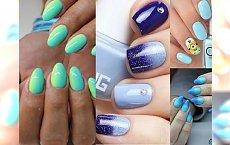 Niebiański manicure - celuj w turkus, lazur, granat i głęboki błękit! Gorący trend dla Twoich paznokci
