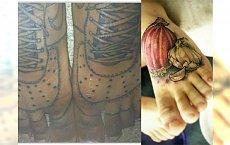 Oczekiwania vs rzeczywistość: tatuaże na stopach. Zobacz najbrzydsze wzory tatuaży na stopie!